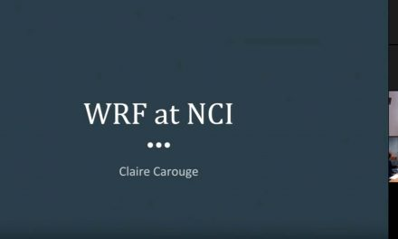 CMS training – starting with WRF at NCI