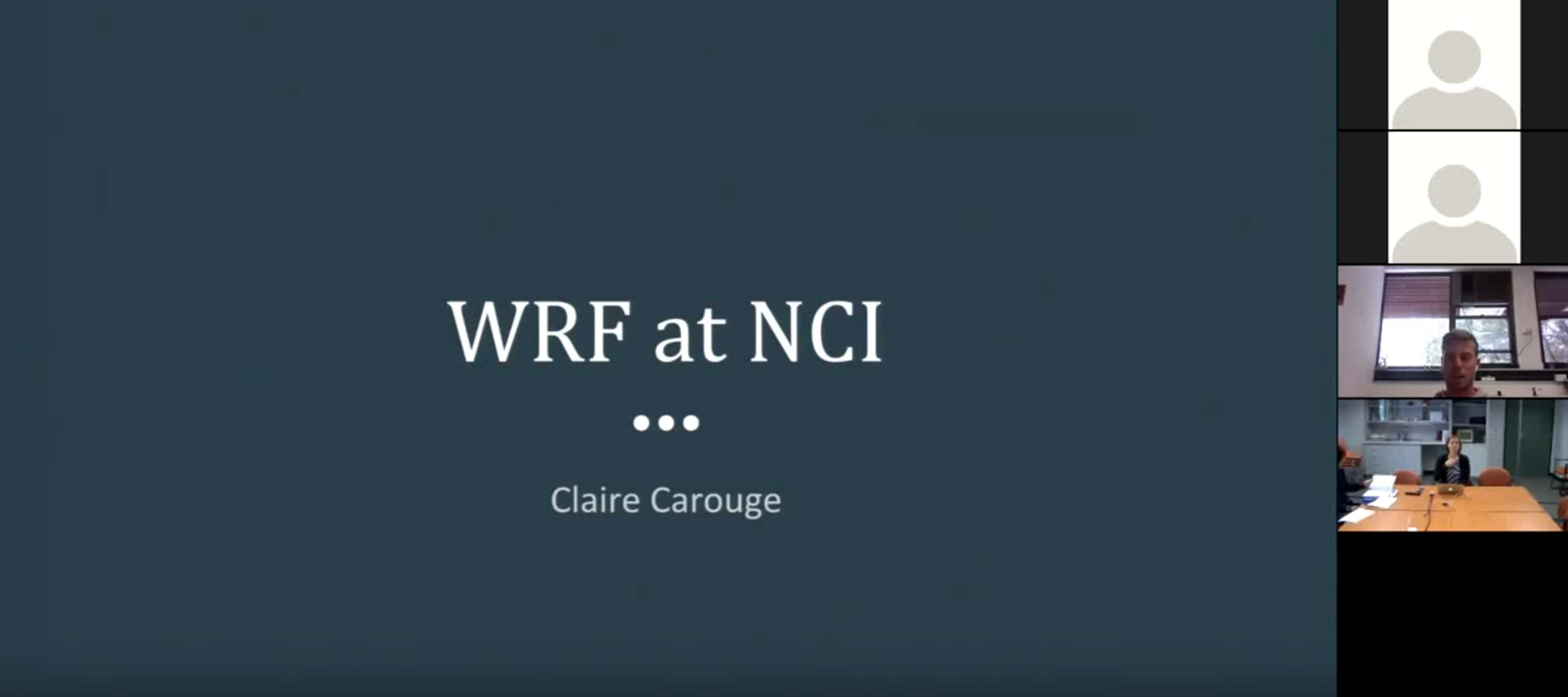 CMS training - starting with WRF at NCI | CLEX