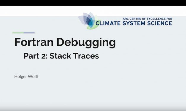 Fortran debugging – Part 2 stack traces