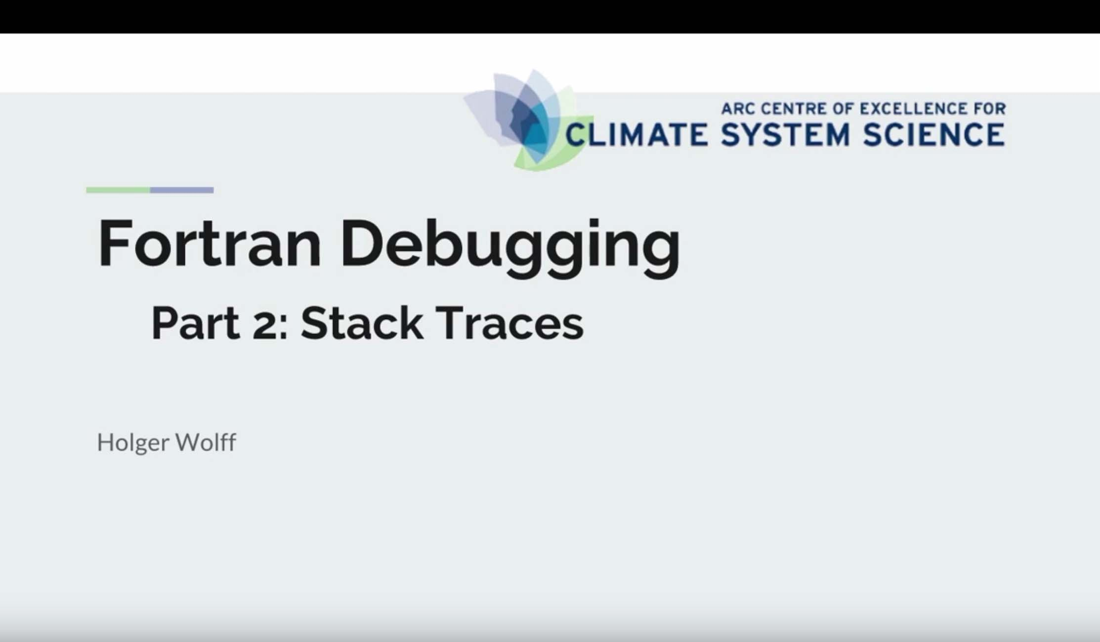 Fortran debugging - Part 2 stack traces | CLEX