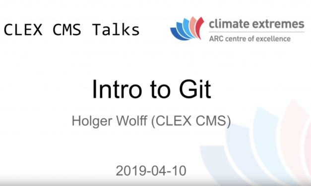 CMS talks: Introduction to Git