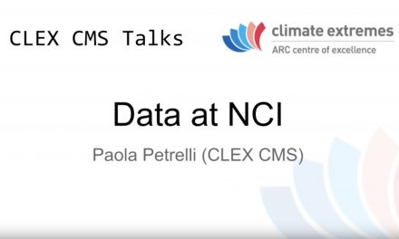 CMS talks: Data at NCI