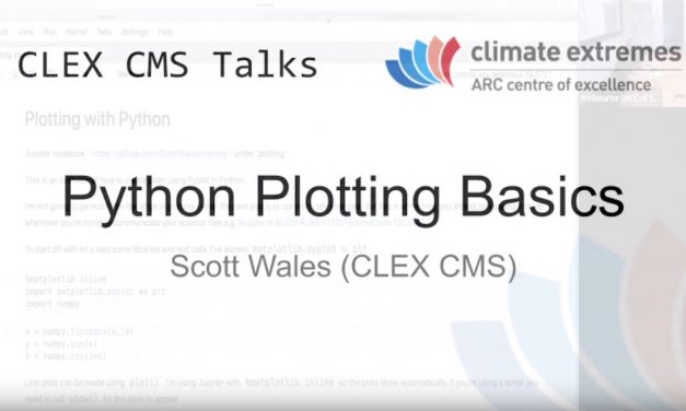 CMS talks: Python plotting basics