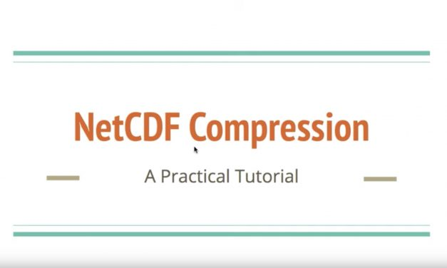 CMS talks: Compression of netCDF files