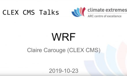 CMS talks: WRF at NCI
